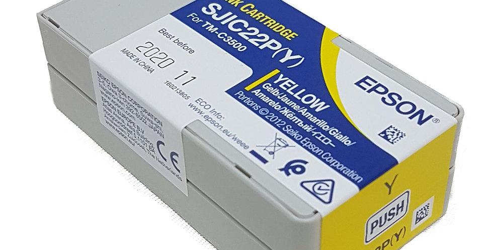 TM-C3500 Yellow Ink Cartridge SJIC22P(Y)
