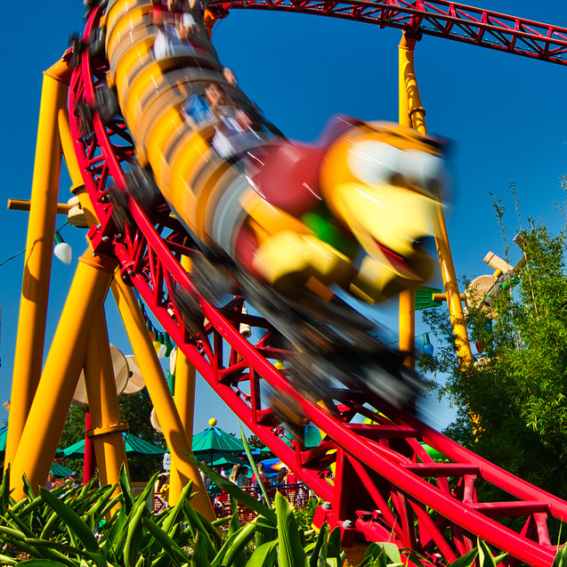 Slinky Dog Dash Roller Coaster