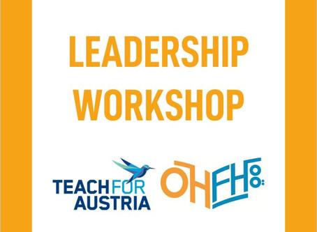 Leadership Workshop in Kooperation mit Teach For Austria