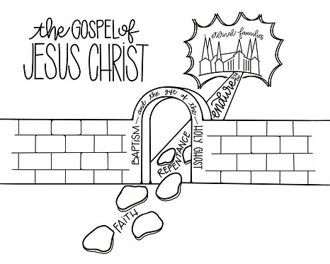 The Gospel of Jesus Christ COLORING PAGE