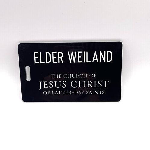 Custom Missionary Luggage Tag (Personalized)