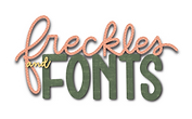 freckles and fonts logo