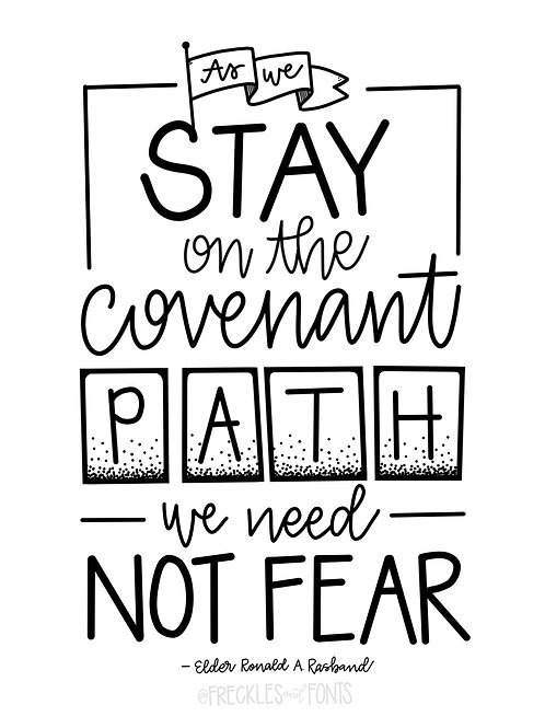 Stay on the Covenant Path