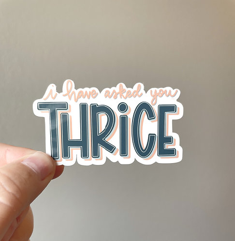 David's Thrice Sticker