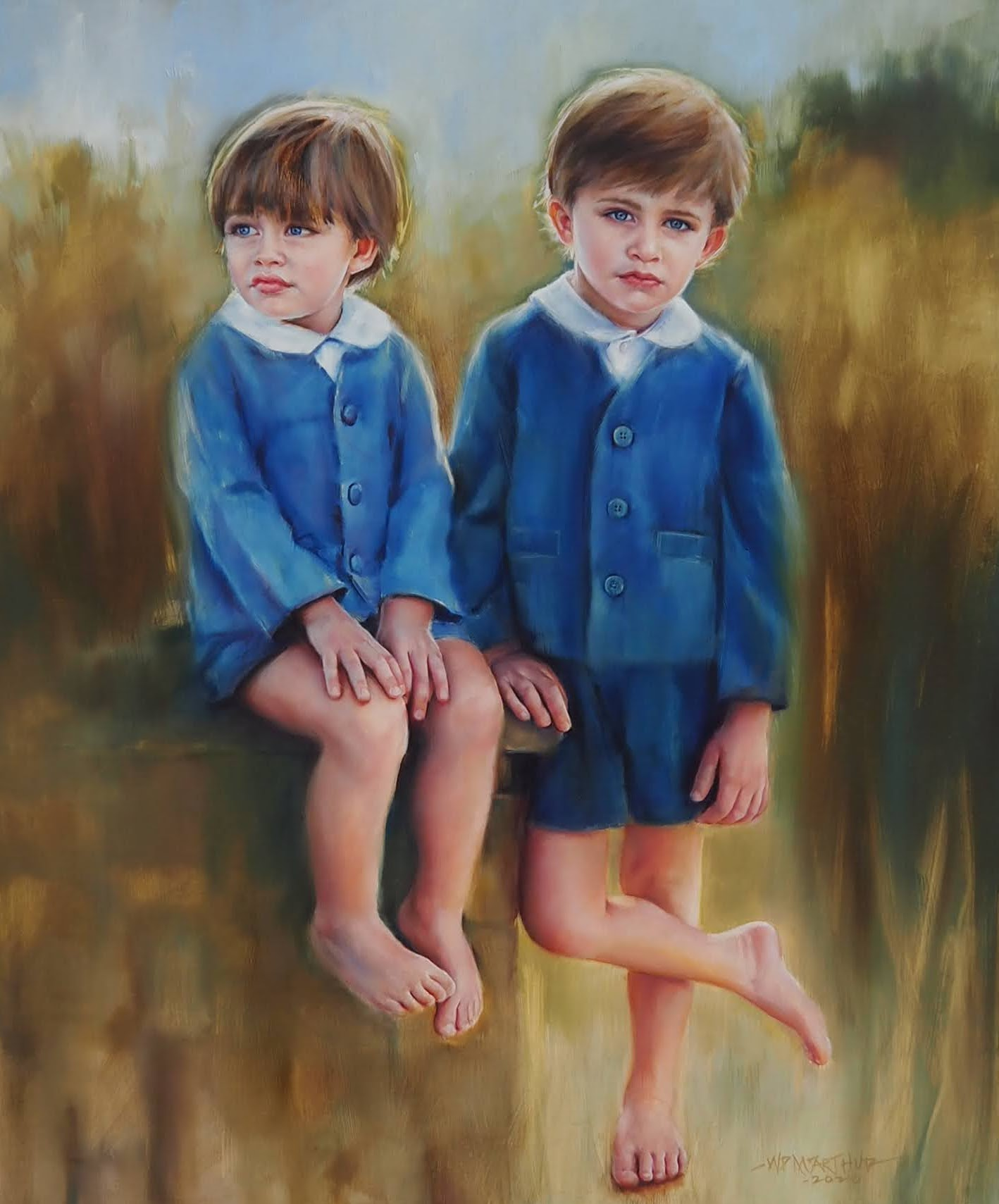 Benjamin and Christopher 30x36 Oil