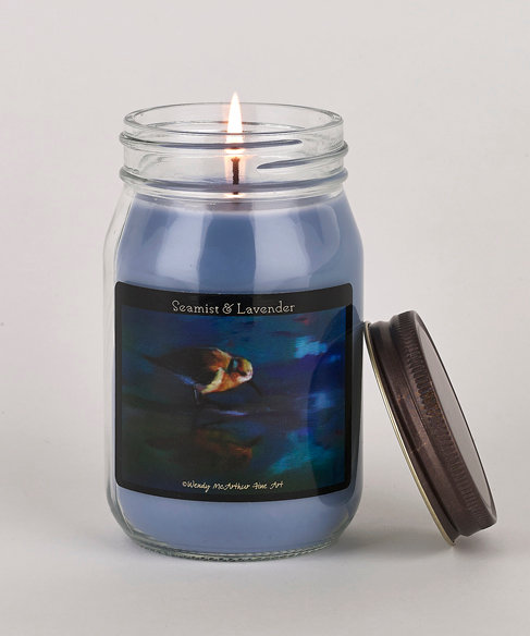 """""""Sea Mist and Lavender"""" Hand-Poured Candle"""