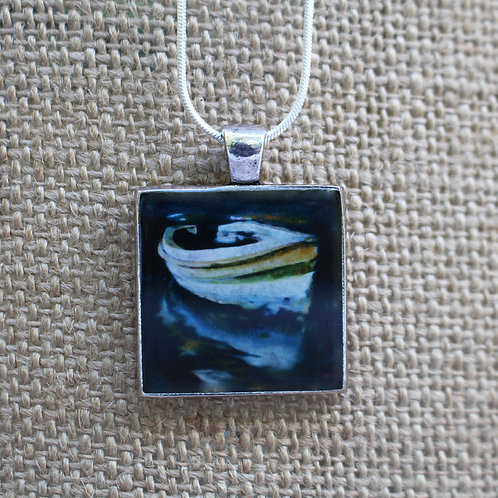 """Moonlighting"" Silver Fine Art Pendant"