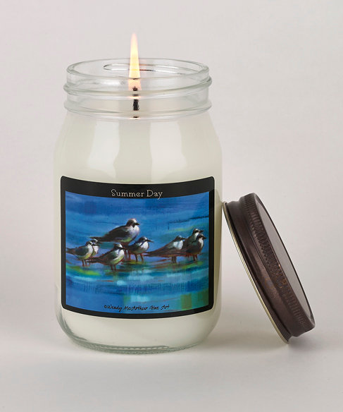 """""""White Cotton"""" Hand-Poured Candle"""