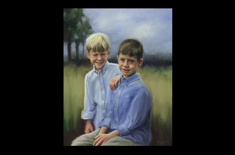 Kindred boys 24X30 Oil
