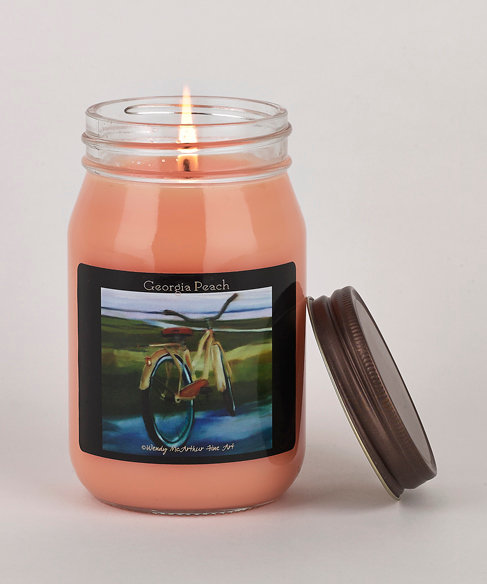 """Georgia Peach"" Hand-Poured Candle"