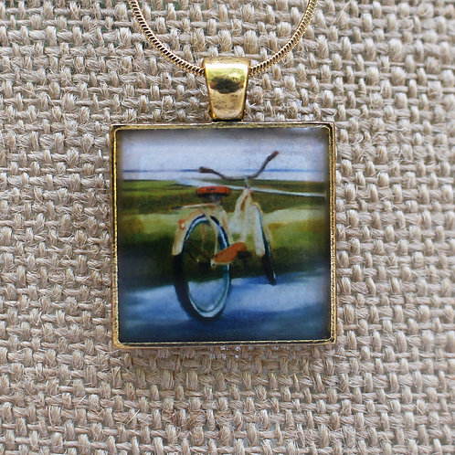 """Way of Life"" Gold Fine Art Pendant"