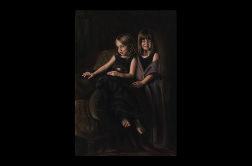 Sarah and Grace 30X40 Oil