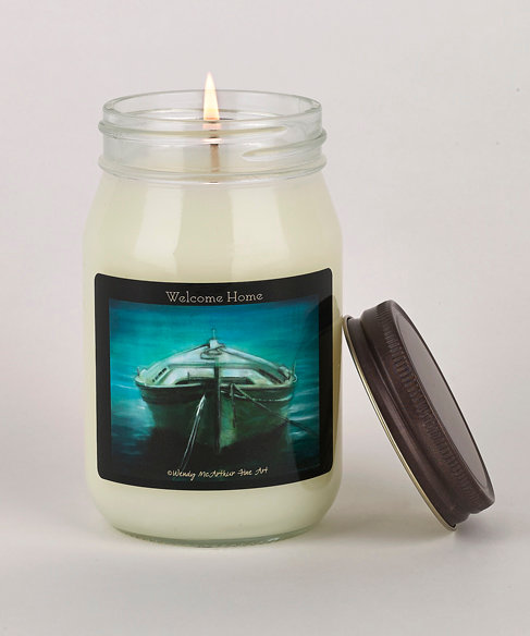 """""""Welcome Home"""" Hand-Poured Candle"""