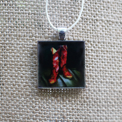 """Ready to Wear"" Silver Fine Art Pendant"