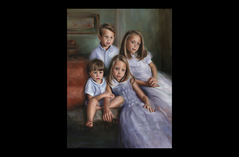 Anderson children 30X40 Oil