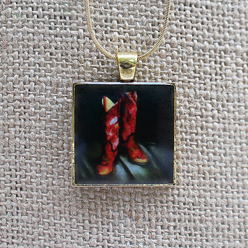 """Ready to Wear"" Gold Fine Art Pendant"