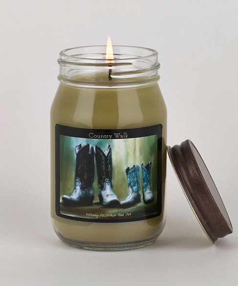 """Country Walk"" Hand-Poured Candle"