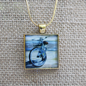 """Afternoon"" Gold Fine Art Pendant"