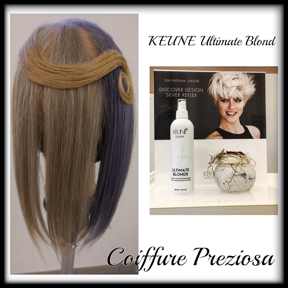 Die gewellte Haarsträhne ist die Ausgangsfarbe. Drei verschiedene Ergebnisse möglich. Unglaublich :) Coiffure Preziosa macht es möglich.