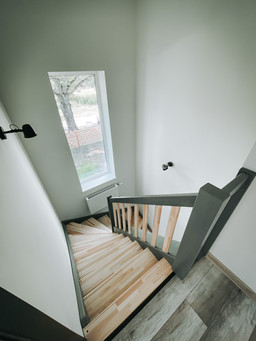 Двухэтажный дом в скандинавском стиле