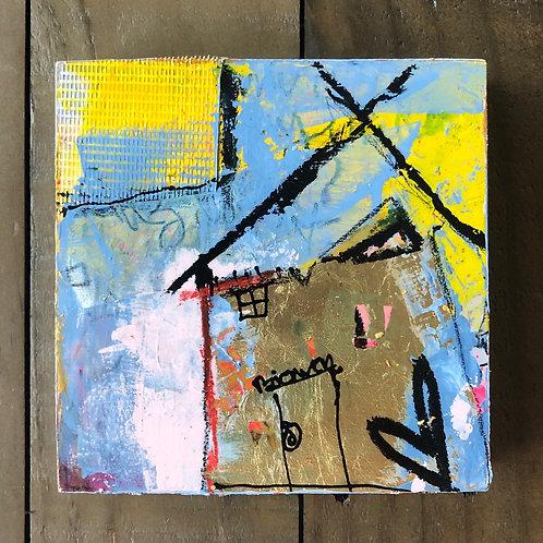 """""""Token of Gratitude"""" 5x5 mixed-media on wood panel (3)"""