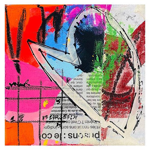 """""""Coeur de Rue"""" 6x6 mixed-media on canvas (2)"""