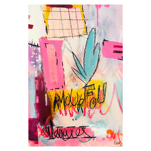 """""""Amour Fou"""" (1) 12x18 in."""
