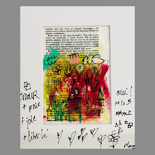 """""""Page 20"""" 8x10' matted on paper"""