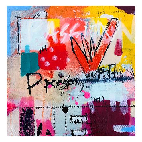 """Mini Passion""(5) 6x6 acrylic on canvas"