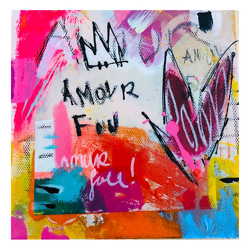 """Mini Passion""(2) 6x6 acrylic on canvas"