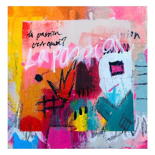 """Mini Passion""(4) 6x6 acrylic on canvas"