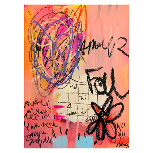 """""""Amour Fou""""(5) 9x12 in."""
