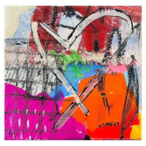 """""""Coeur de Rue"""" 6x6 mixed-media on canvas (4)"""