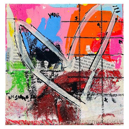 """""""Coeur de Rue"""" 6x6 mixed-media on canvas (1)"""