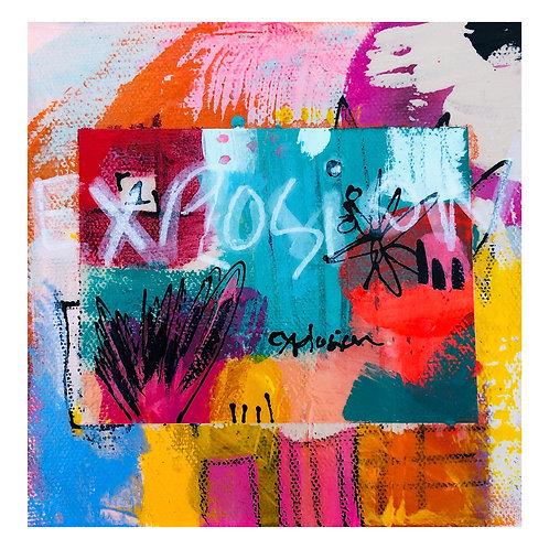 """Mini Passion""(6) 6x6 acrylic on canvas"