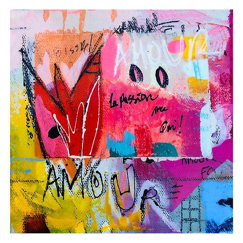 """Mini Passion""(8) 6x6 acrylic on canvas"