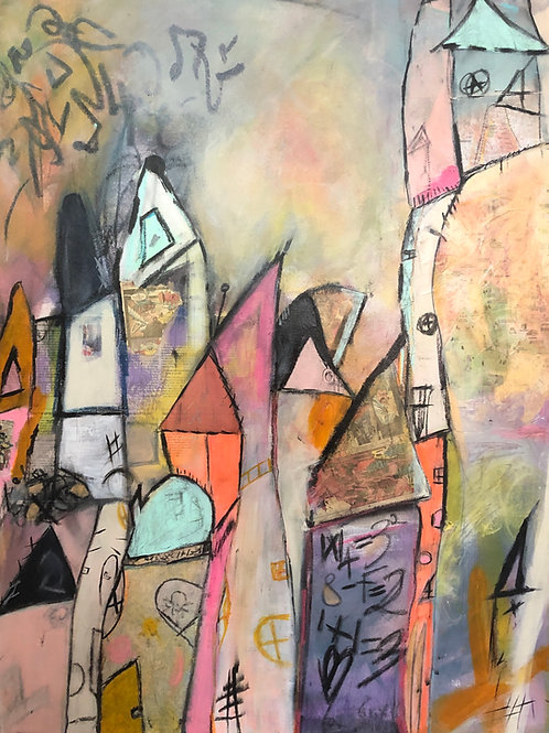 """""""My Lalaland"""" 40x30x0.5 mixed-media on canvas"""