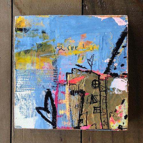 """""""Token of Gratitude"""" 5x5 mixed-media on wood panel (2)"""