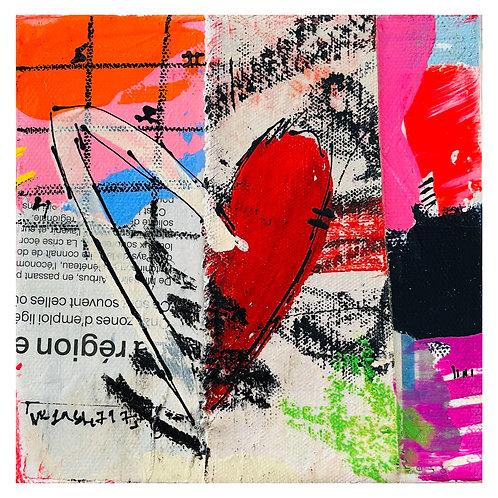 """""""Coeur de Rue"""" 6x6 mixed-media on canvas (3)"""
