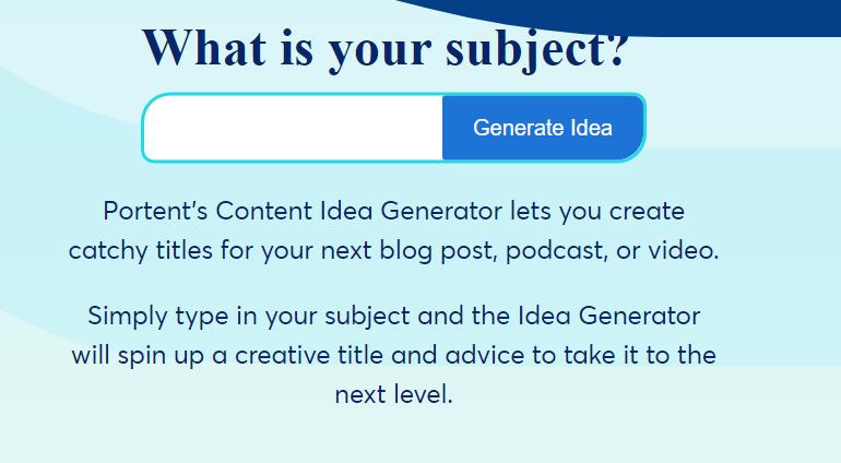 Blog Ideas -- SEO Title Maker