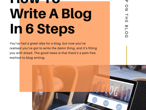 How To Write A Blog In Six Steps