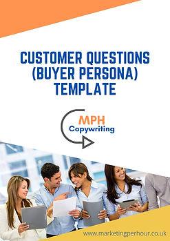 MPH Copywriting image of customer questions pdf