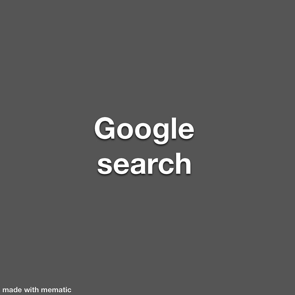 Grey box with Google search