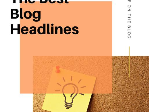 The Best Blog Headlines