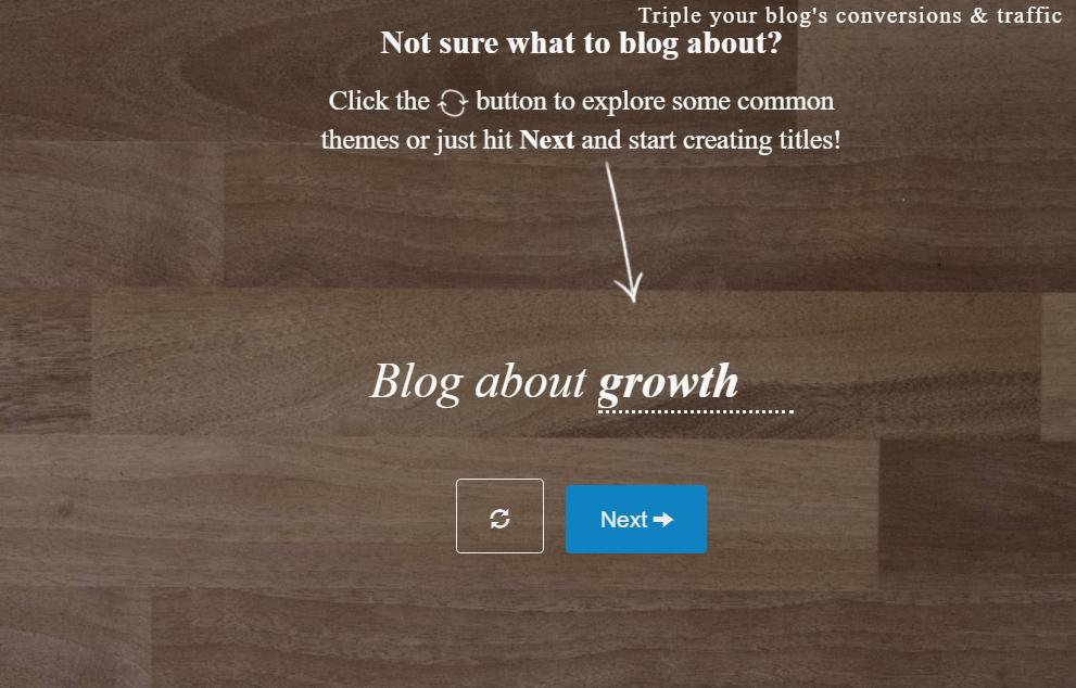 Blog Ideas -- Title Generator