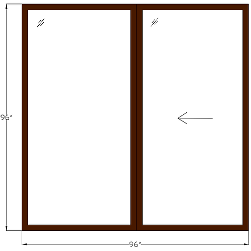 "Encore of McLean PD1 Sliding Glass Door - 96"" x 96"""