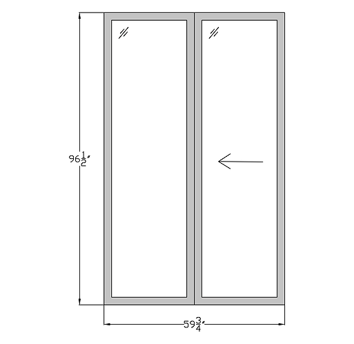 "Penthouse P3 Sliding Glass Door - 59-3/4"" x 96-1/2"""
