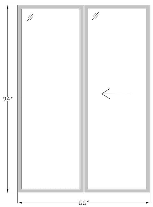 """Marina Towers PD3 Sliding Glass Door - 66"""" x 94"""""""