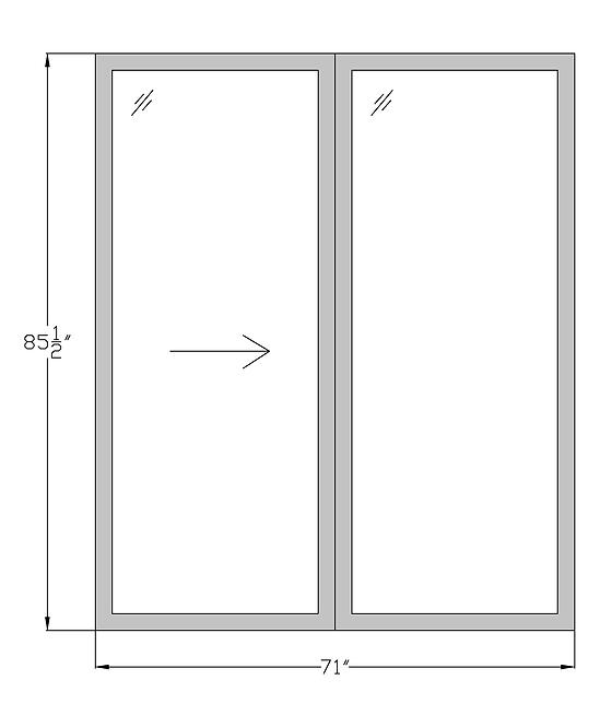 "Lakeside Terrace PD2 Sliding Glass Door - 71"" x 85-1/2"""