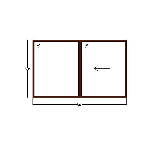 "Representative B Sliding Window - 86"" x 53"""